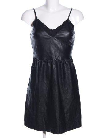 Only Leren jurk zwart casual uitstraling