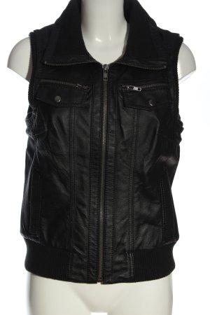 Only Leather Vest black elegant