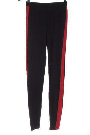 Only Leggings schwarz-rot Casual-Look
