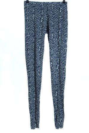 Only Leggings blau-weiß Allover-Druck Casual-Look