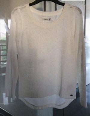 Only Pullover all'uncinetto bianco