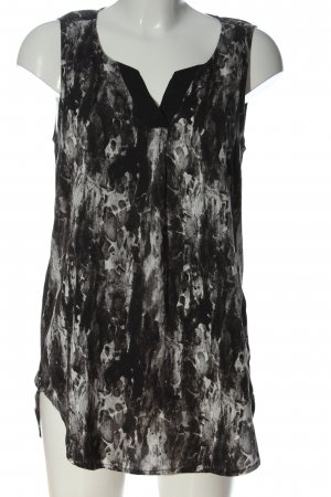 Only Long-Bluse schwarz-weiß abstraktes Muster Casual-Look