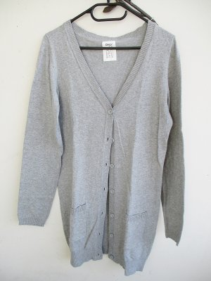 Only Cardigan grigio chiaro Cotone