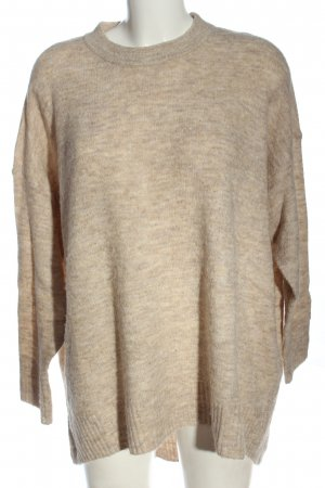 Only Longpullover creme meliert Casual-Look