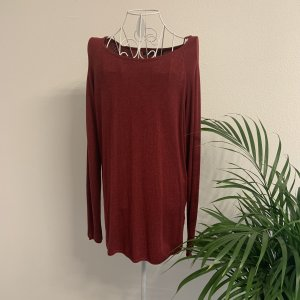 Only Long Sweater bordeaux