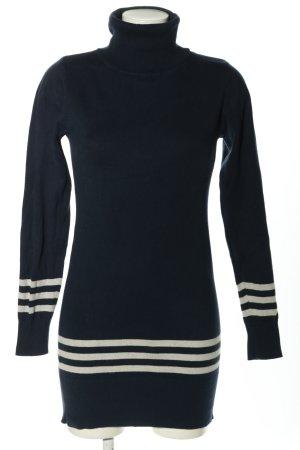 Only Pull long noir-blanc motif rayé style décontracté