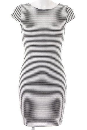 Only Longshirt schwarz-weiß Streifenmuster Casual-Look
