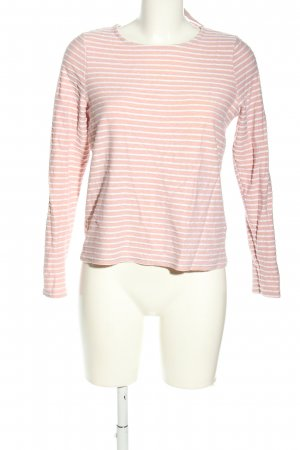 Only Longsleeve pink-weiß Allover-Druck Casual-Look