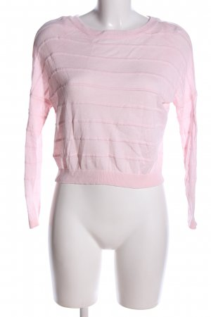 Only Longsleeve pink Streifenmuster Casual-Look