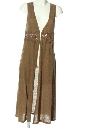 Only Długa dzianinowa kamizelka brązowy Melanżowy W stylu casual