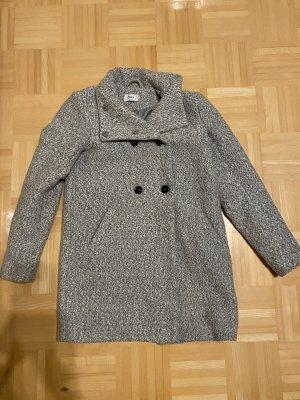 Only Wollen jas lichtgrijs-grijs