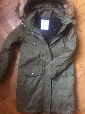 Only Hooded Coat dark green