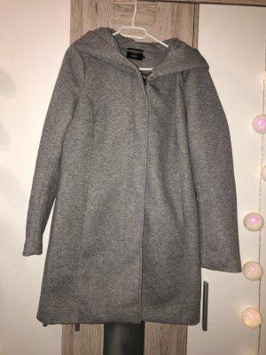 Only Abrigo corto gris claro