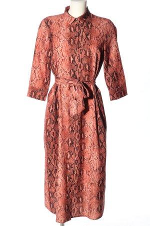 Only Geklede jurk rood-zwart volledige print casual uitstraling