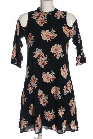 Only Cut Out Dress black-pink allover print elegant