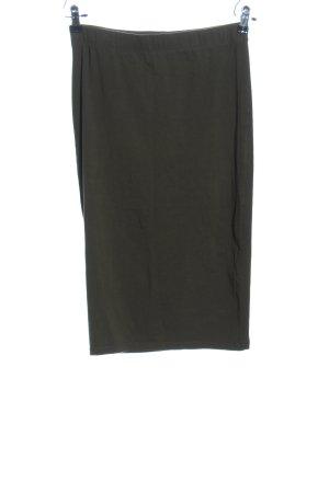 Only Falda midi gris claro look casual