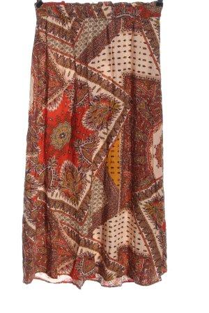 Only Falda midi estampado con diseño abstracto look casual