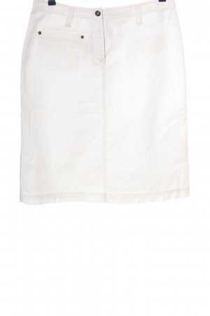 Only Falda midi blanco look casual