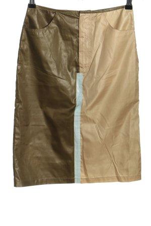 Only Falda midi caqui-marrón look casual