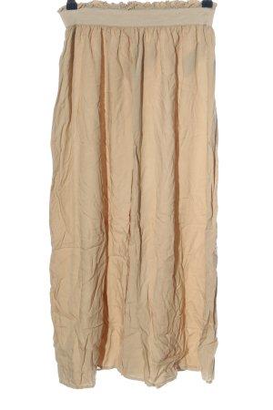 Only Falda midi blanco puro look casual
