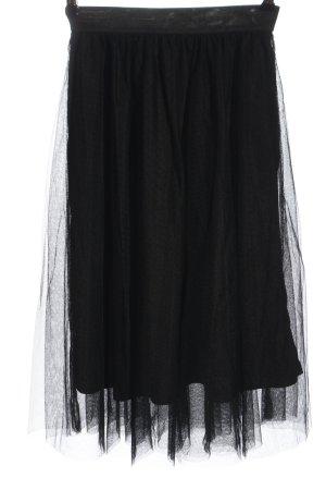 Only Falda midi negro elegante