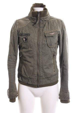 Only Veste militaire gris clair-brun style décontracté