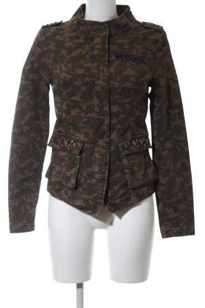Only Militaryjacke khaki-braun Camouflagemuster Casual-Look