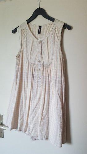 Only Mini-Kleid kariert M 36 38 Rosa Weiß Grau Longshirt