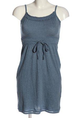 Only Minikleid blau meliert Casual-Look