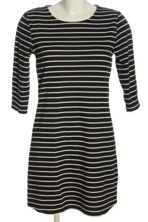 Only Minikleid schwarz-weiß Streifenmuster Casual-Look