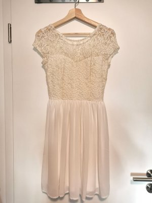 Only Chiffon jurk wit-goud Polyester