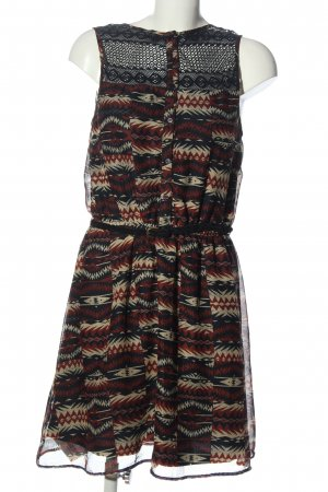 Only Minikleid Allover-Druck Casual-Look
