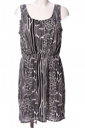 Only Minikleid schwarz-weiß abstraktes Muster Casual-Look