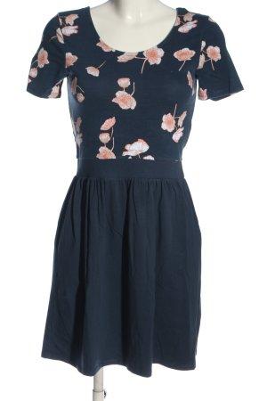 Only Minikleid blau-pink Blumenmuster Casual-Look
