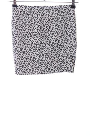 Only Minirock hellgrau-schwarz abstraktes Muster Elegant