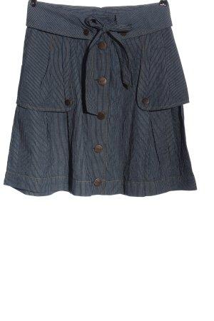 Only Minigonna blu motivo a righe stile casual