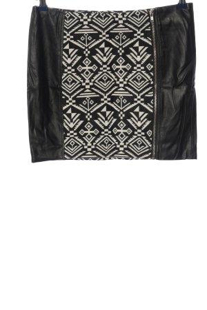 Only Minirock schwarz-weiß grafisches Muster Casual-Look