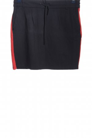 Only Minirock schwarz-rot Casual-Look