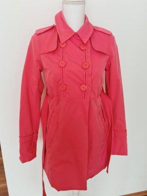 Only mittellanger Mantel Trenchcoat Parka Regenjacke Regenmantel  Jacke  in pink S