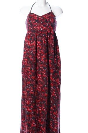 Only Robe dos-nu rouge-noir imprimé allover style décontracté