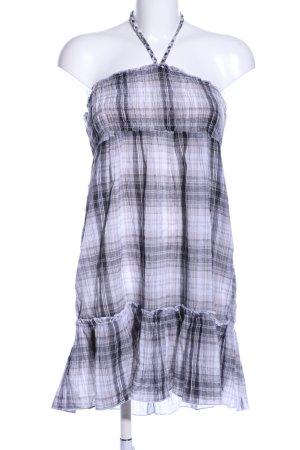 Only Robe dos-nu blanc-noir motif à carreaux style décontracté