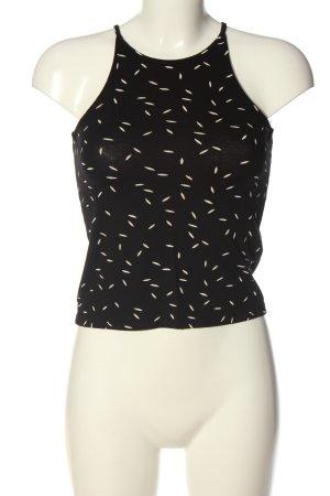 Only Top z dekoltem typu halter czarny-w kolorze białej wełny W stylu casual