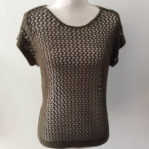 Only Camisa de malla gris verdoso