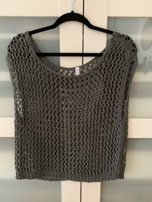 Only Camisa de malla gris oscuro-gris antracita
