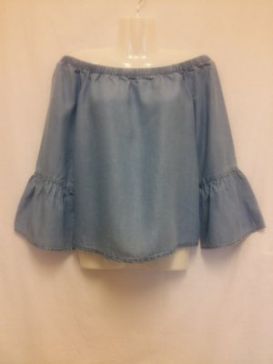 Only Off-Schoulder Bluse Gr. M Blue Denim