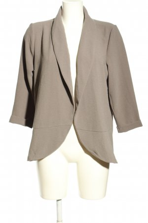 Only One Giacca lunga grigio chiaro stile professionale