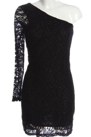 Only Sukienka na jedno ramię czarny Elegancki