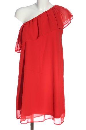 Only Vestido de un hombro rojo elegante