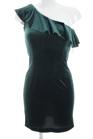 Only One-Shoulder-Kleid waldgrün Party-Look