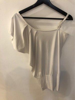 Only Camisa de un solo hombro blanco